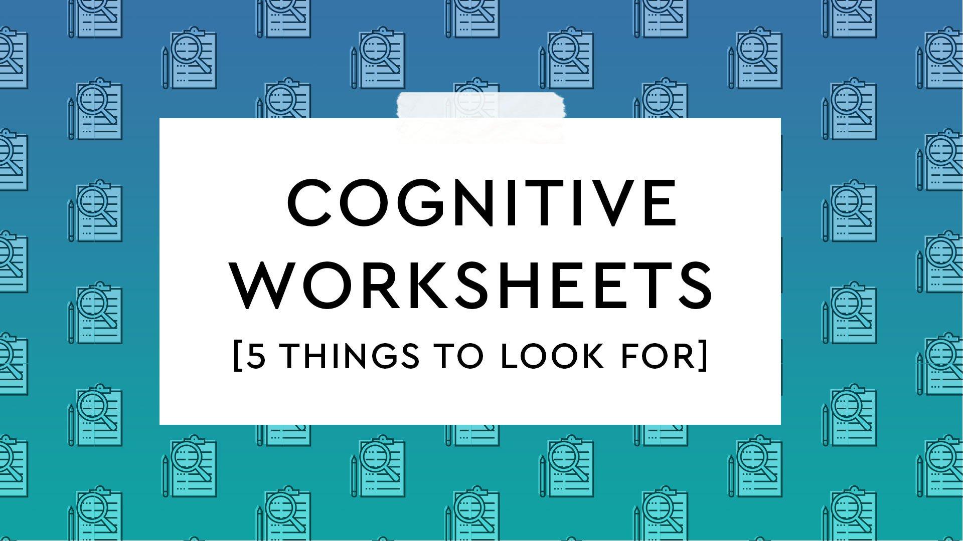 free cognitive worksheets